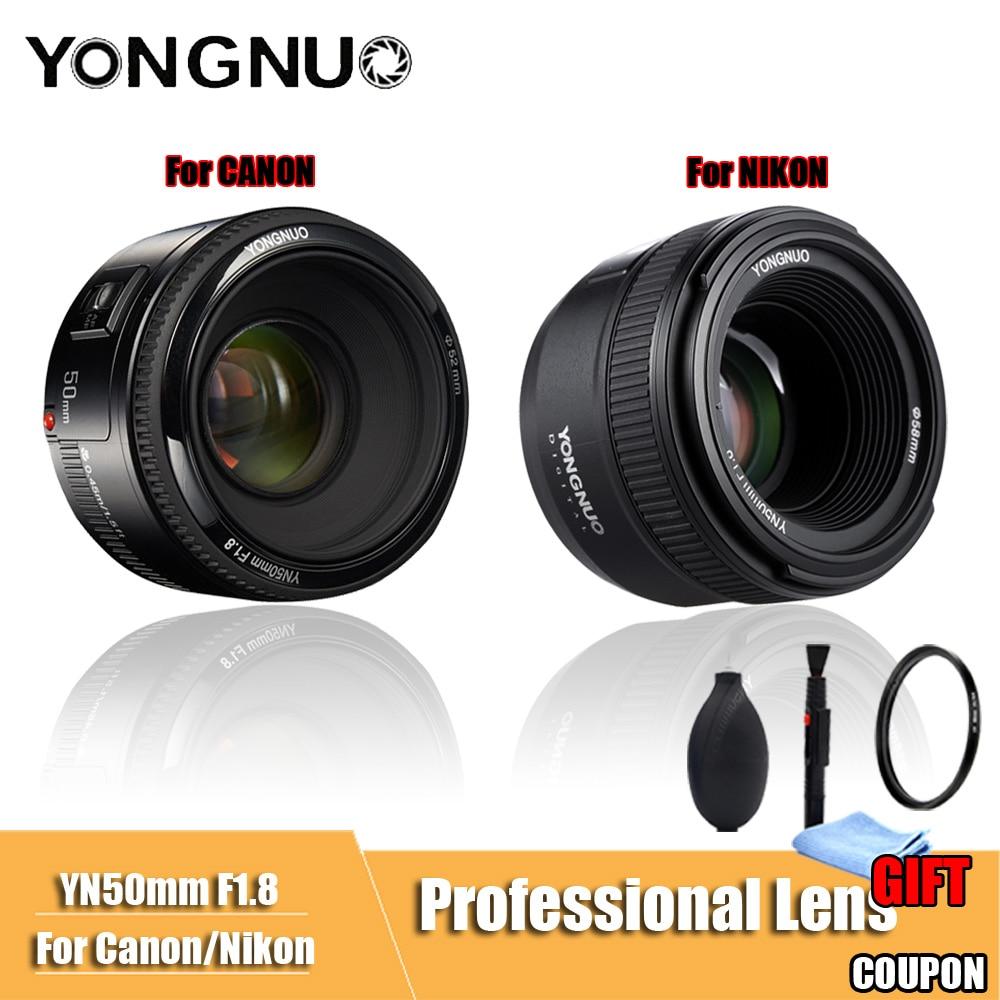 YONGNUO YN50mm F1.8 Grande Ouverture Auto Focus Lens DSLR Camera Lens Pour canon Pour Nikon D800 D300 D700 D3200 D3300 d5100