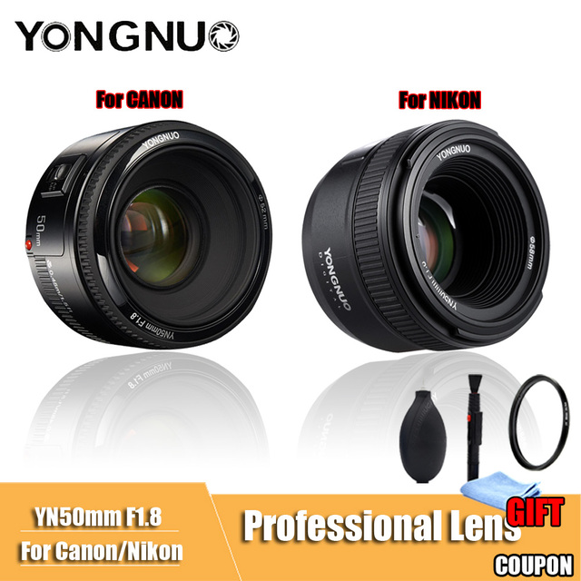 YONGNUO YN50mm F1.8 Lớn Khẩu Độ Tự Động Lấy Nét Ống Kính Máy Ảnh DSLR Ống Kính Đối Với canon Đối Với Nikon D800 D300 D700 D3200 D3300 d5100