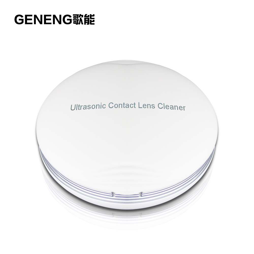 Ultrasonic Contact Lens Cleaner GENENG CE-3500 Portable 2 Timing Options Buttons lenses