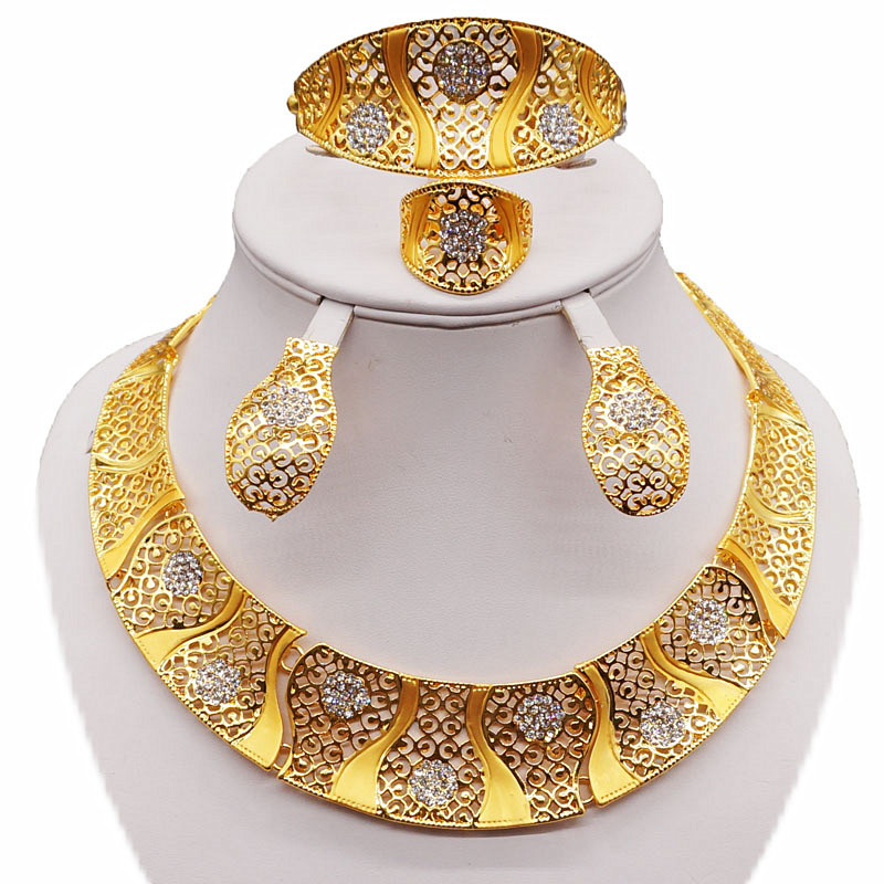 gold jewelry sets african bead jewelry set wholesale women jewelry sets women necklace weding necklace stone necklace