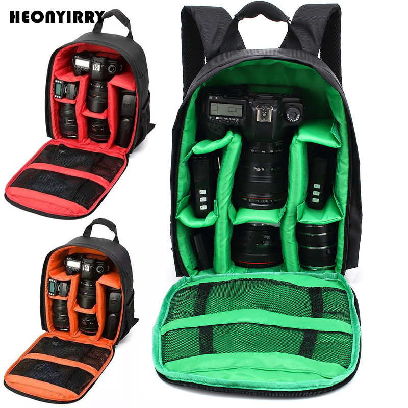 HEONYIRRY Waterproof DSLR Camera Bag Camera Backpack for Video Lens Mochila Fotografia Double Shoulder Bags for Nikon Canon