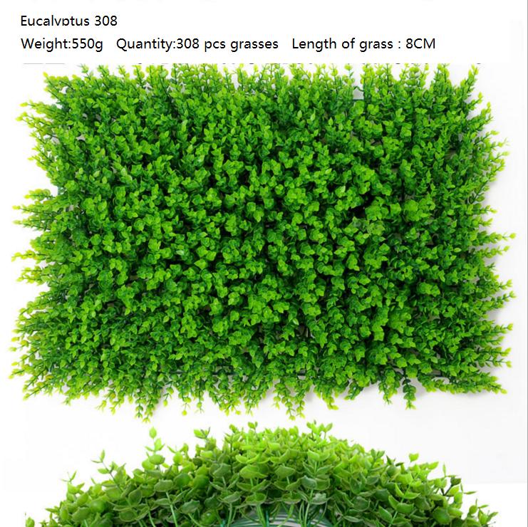40*60CM Eucalyptus ARTIFICIAL PLANT VERTICAL GARDEN FAKE WALL SCREEN For Home Store Garden Deocr