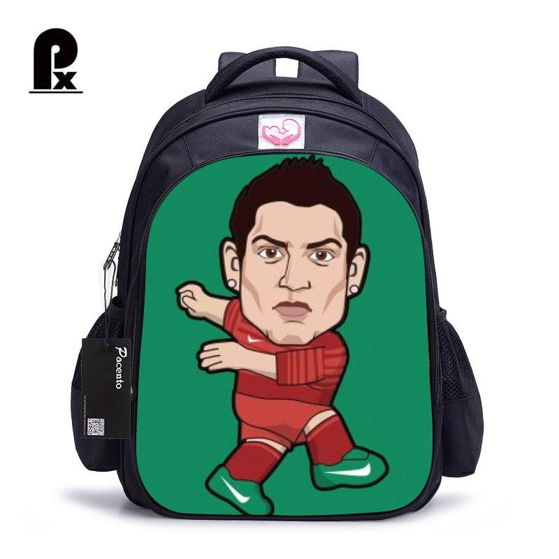 3D Cartoon Schoolbag Ronaldo Lionel Messi Printing School Bags for Teenager Boys Super Star School Backpack Orthopedic Mochila