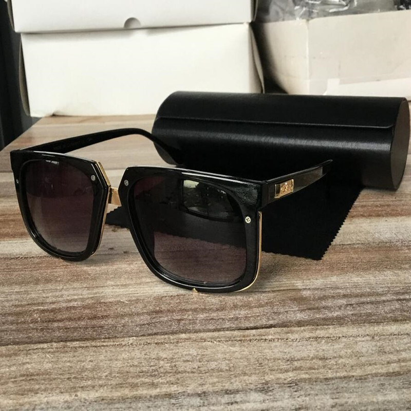 KAPELUS European And American Brand Sunglasses Casual Glasses Contains Black Leather Box