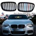 F20 M Трехцветная Решетка переднего бампера для BMW 1 серии 116i 118i 120i 125i 128i 2012-2014 F20 F21 решетка