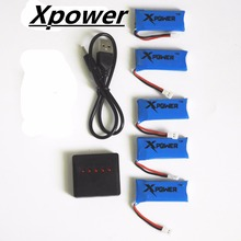H107 3.7V 500mAh LiPo Battery and USB charger Hubsan H107 h107c H1007P JXD385 YD928 U816 rc Wltoys Walkera Quadcopter 5pcs