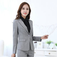 Autumn And Winter Formal Blazer Women Business Suits With Pant Jacket Waistcoat Sets Pantsuits Ladies Office