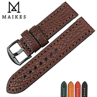 MAIKES Watch Strap For Fossil Men 20mm 22mm 24mm 26mm Brown Watch Accessories Genuine Leather Watch