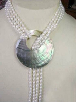Hot Sell Noble FREE SHIPPING Free Shopping 6 7MM White Akoya Cultured Pearl Necklace Shell