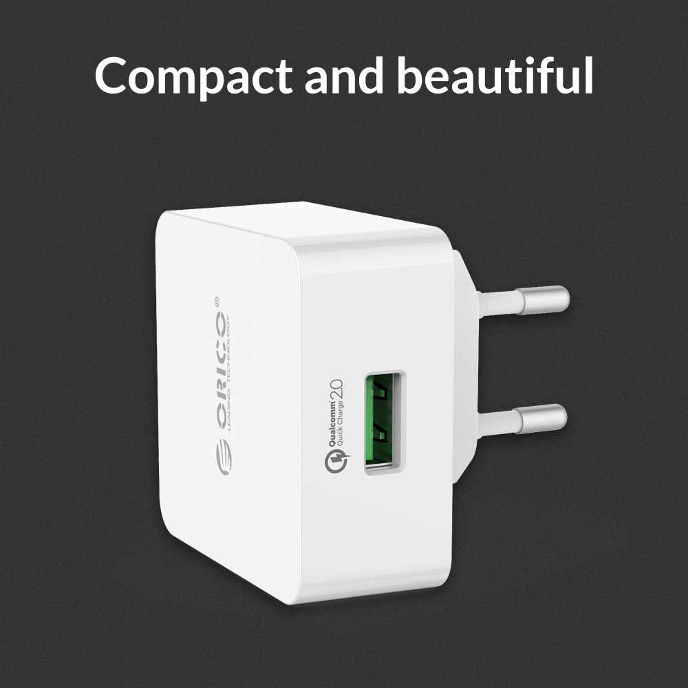 ORICO QC 2.0 Quick Charge 18W USB Wall Charger for Samsung S5 S6 LG G4 Xiaomi with Micro USB Cable