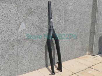 Carbon Matt Glänzend 650B 27.5ER Mountainbike MTB Fahrrad Gabel + 1 stücke Titanium QR Spieß