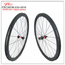 High end Chinese carbon wheelset 38mm 23mm 700C carbon fiber bicycle wheelsets DT240 hub 36 ratchets Sapim aero spokes 20H/24H
