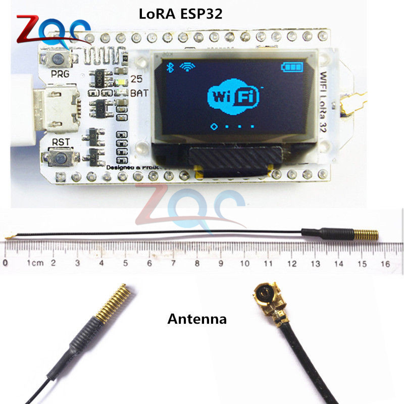 SX1278 LoRa ESP32 0.96 inch OLED Display Bluetooth WIFI Lora Kit 32 Module Internet Development Board 433MHz-470MHz for Arduino doit arduino ide for esp32 module wifi and bluetooth development board ethernet internet wireless transceiver control board