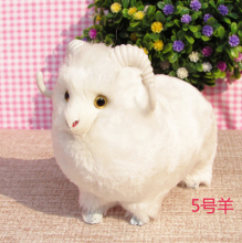simualtion white goat model mini 13*8*11cm sheep, plastic& furs toy handicraft,home decoration Xmas gift w5749