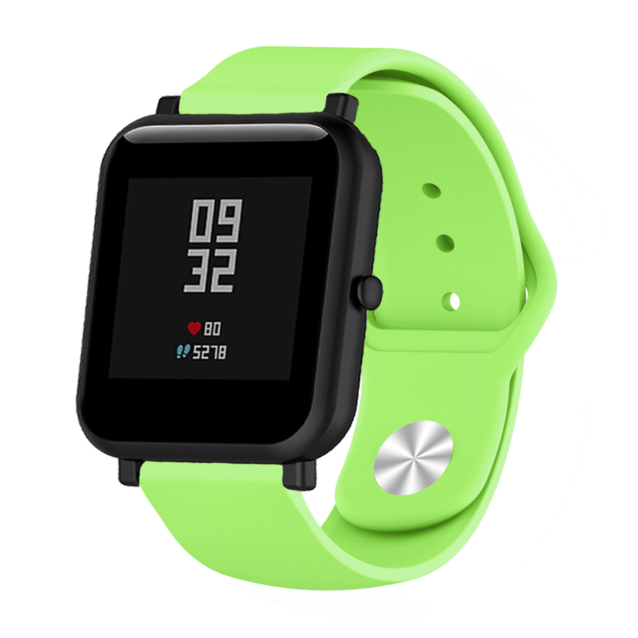 Image 4 - Silicone Soft Strap for Xiaomi Huami Amazfit Bip BIT Lite Youth Smart Watch Wrist Bracelet for Amazfit Bip Watchband 20mm Strap-in Smart Accessories from Consumer Electronics