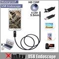 Hta55 xinfly micro usb endoscopio usb de inspección cámara 0.3mp 5.5mm dia 6led y accessaries impermeable boroscopio cámara de inspección
