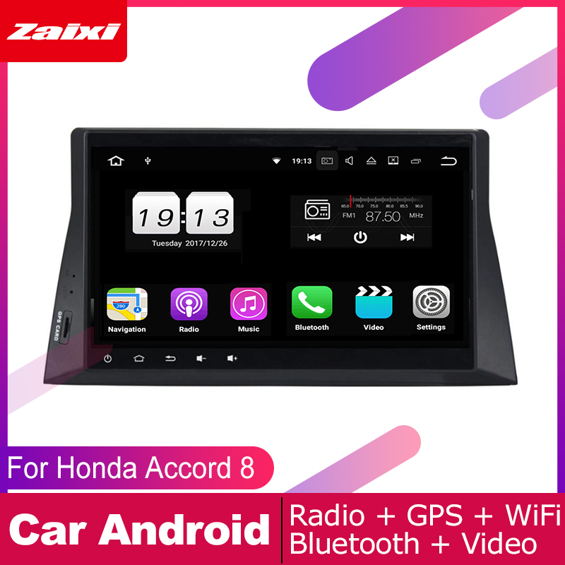ZaiXi android car gps multimedia player For Honda Accord 8 2008 2012 car dvd navigation radio video audio player Navi Map in Car Multimedia Player from Automobiles Motorcycles