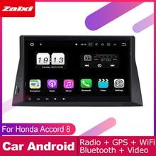 ZaiXi android car gps multimedia player For Honda Accord 8 2008~2012 car dvd navigation radio video audio player Navi Map