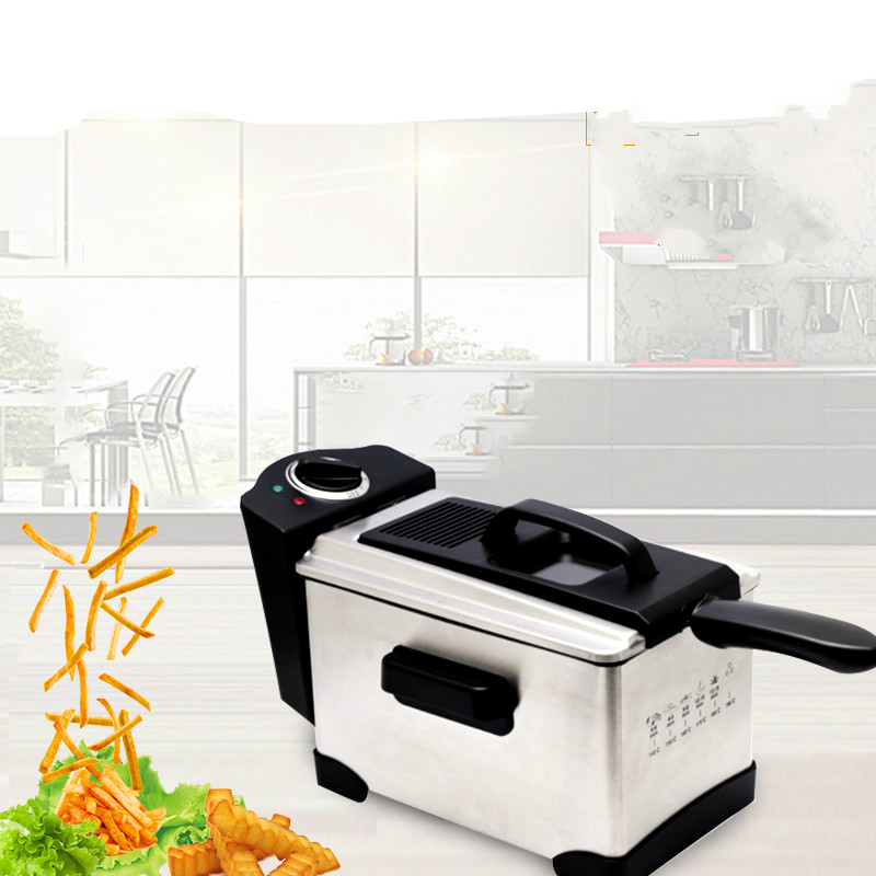 Electric Deep Fryers An electric fryer with a square intelligent thermostatic oil fryer. california exotic booty call x 10 beads фиолетовая анальная цепочка