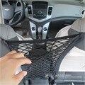 Almacenamiento de equipaje colgando titular de doble capa del bolso del organizador del Auto Back Seat elástico red del acoplamiento del bolso del almacenaje del bolsillo 30 X 25 cm
