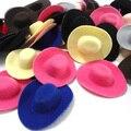 50pcs Hen Party Felt Mini Top Hat Hair Fascinator Base. DIY Mini Cowboy hat hair accessories 6.8cm