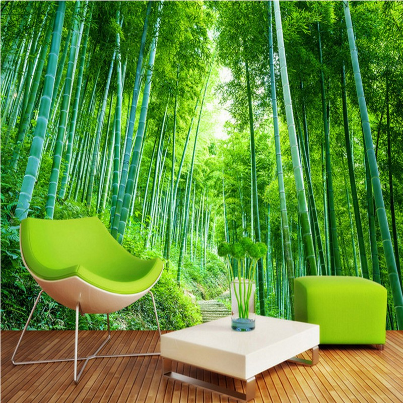 3D photo wallpaper Bamboo forest jungle landscape background wall bathroom wallpaper mural living room bedroom home decoration free shipping 3d wall breaking basketball background wall bedroom living room studio mural home decoration wallpaper