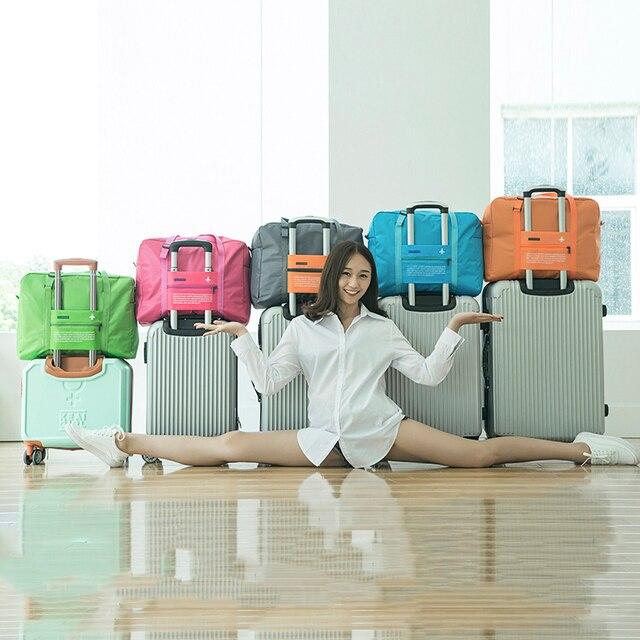 Nylon WaterProof Travel Bag Large Capacity Women Folding Double Zipper Handbag Unisex Men Luggage Travel Handbags Wholesale
