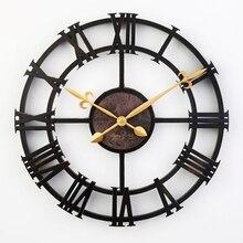 17-дюймовые старинных больших декоративные настенные часы римские цифры моды тихие декора часы современный дизайн дома часов часы настенные часы на стену декор для дома  ретро часы часы настенные для