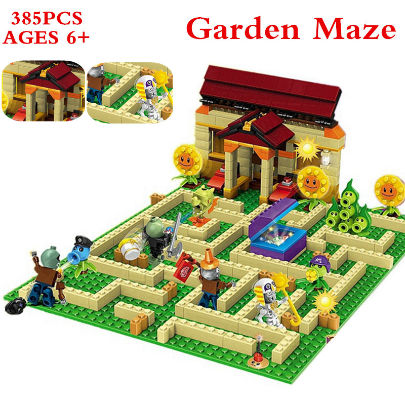 Plants vs Zombies Garden maze struck game Building Blocks Bricks Toys For kids Like Lepin superheros figures Minecraft XD60 electronic arts plants vs zombies garden warfare xbox one русская документация