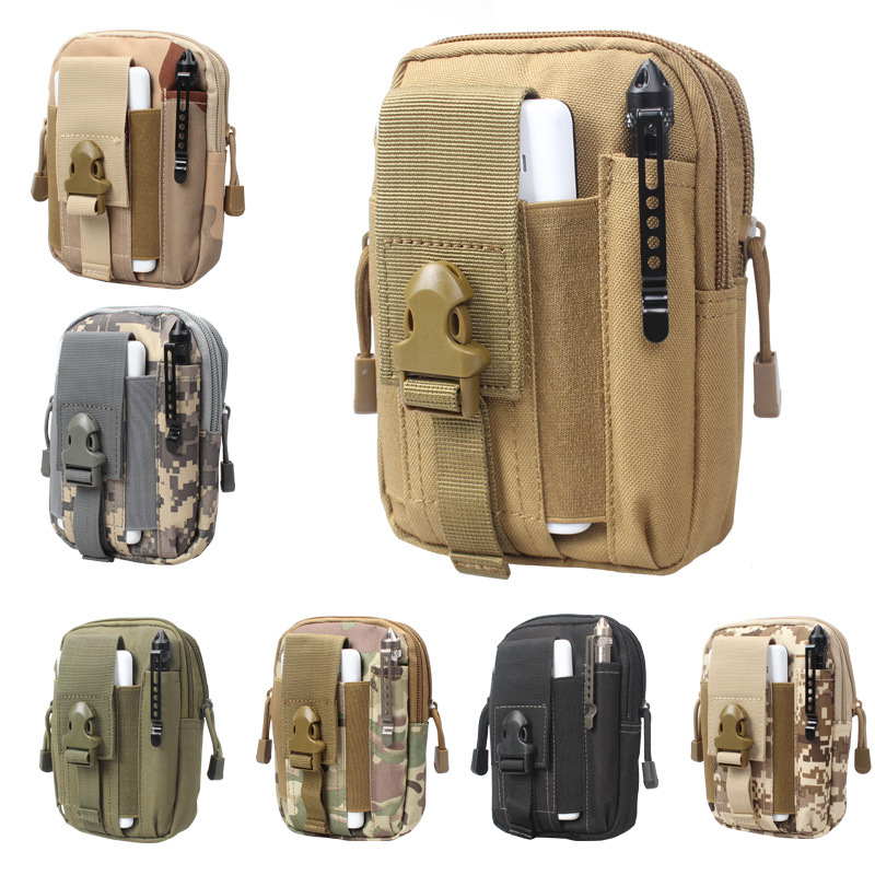FJUN Outdoor Hiking Camping Bag Millitary Tactical Bag Pouch Belt Loops Waist Bag Phone Case For Smartphone
