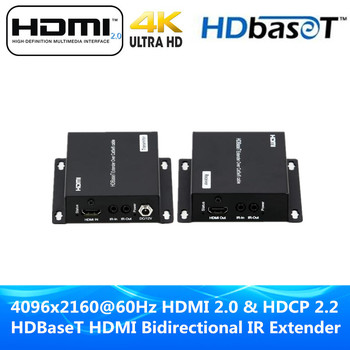 HDBaseT HDMI IR Extender 4K Ultra HD POE Extender For HDMI 2.0 & HDCP 2.2/1.4 Over CAT5e/6A Cable Up To 330ft (1080P) 230ft(4K)