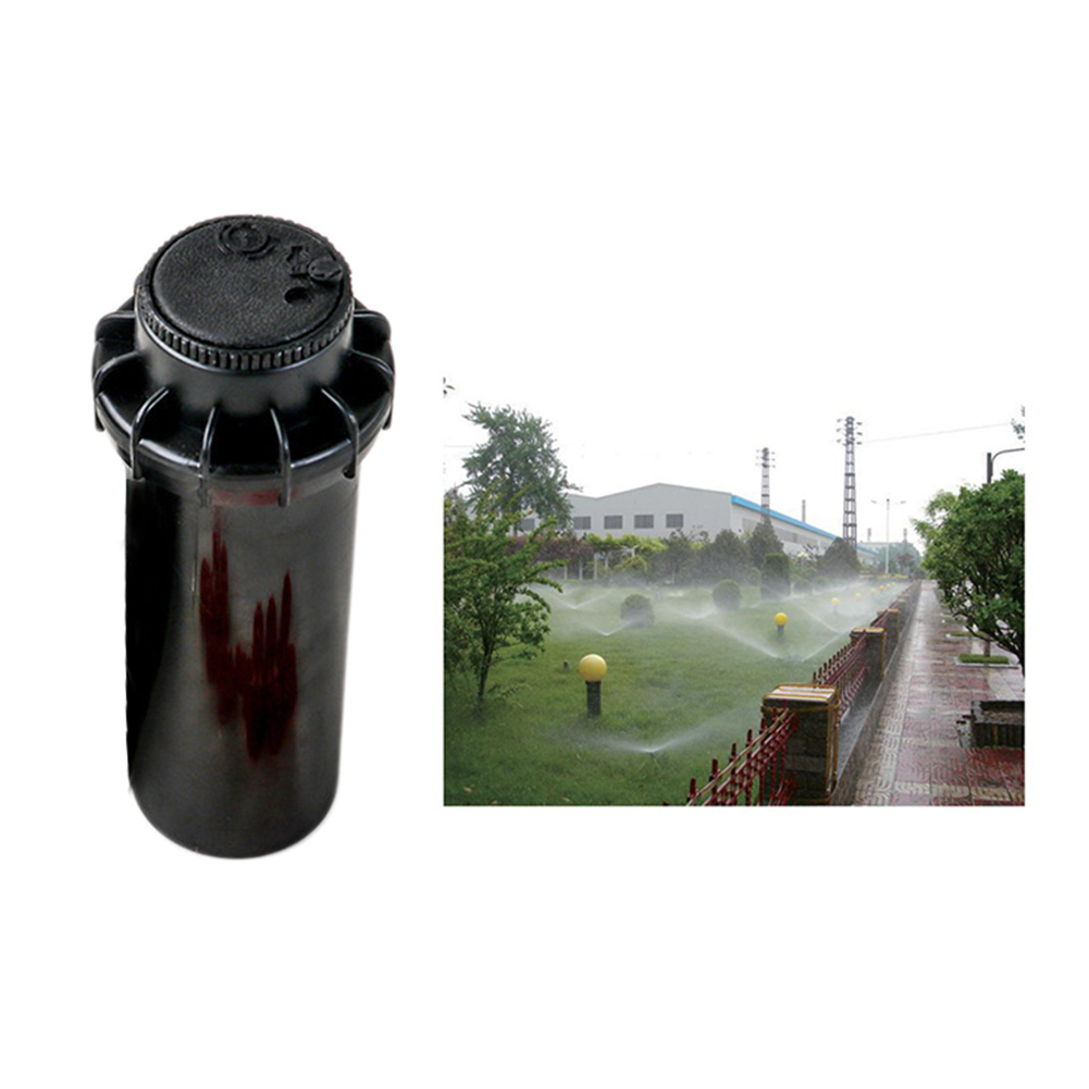 25-360 Degree Pop Up Sprinklers Plastic Lawn Watering Sprinkler Head Adjustable Garden Spray Nozzle 1/2