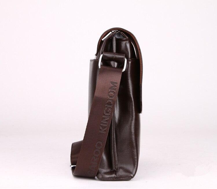 couro homens homensageiro dos homens Bag Inner Structure : Zipper Secret Pocket