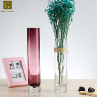 Glass Transparent Vase Glass Floor Vase For Home Vaso De Planta Cylinder Containers Wedding Decoration Accessories QAB006