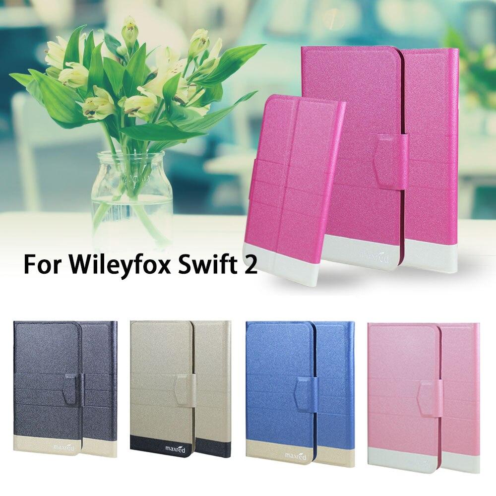 5 barev Super! Wileyfox Swift 2 Pouzdro na telefon Kůže Full Flip Kryt telefonu, Kvalitní Luxusní Telefonní Příslušenství