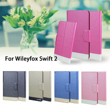 5 Colors Super! Wileyfox Swift 2 Phone Case Leather Full Flip Phone Cover,High Quality Luxurious Phone Accessories