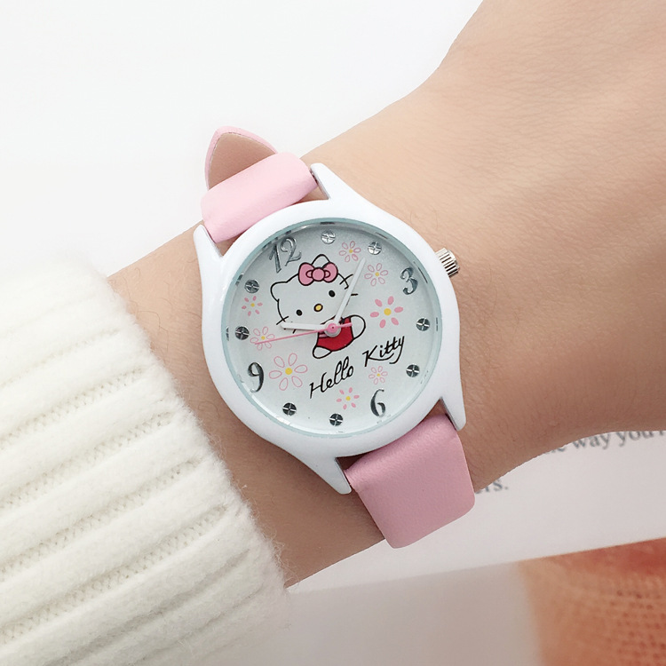 Cute cartoon children watch girls students watch girls fashion girls watch waterproof quartz watch(China)