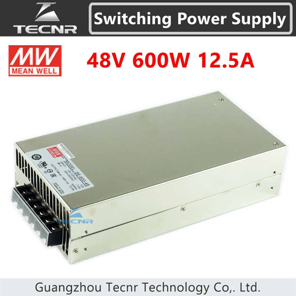 MEANWELL 48V 600W 12.5A switch power supply transformer for cnc machine SE 600 48