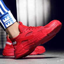 Rommedal Brand Sports trainers Shoes for men Sneakers Outdoor Mens fashion Breathable Casual solid lace up footwear 2019