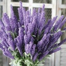4 Colors 12 Heads/Bouquet Artificial Lavender Flowers Romantic Provence Home Festival Wedding Table Party Decor Art