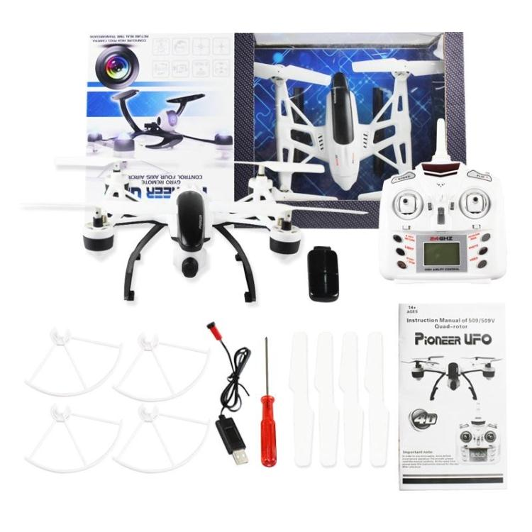 F16204/5 JXD 509V / 509W UFO Drone with 0.3MP Camera Headless mode One Key Return High Hold Mode RC Quadcopter RTF jxd 510g 4ch 6 axis gyro 5 8g fpv rc quadcopter drone with 2 0mp camera 2 4ghz with one key return cf mode 3d flip drone rtf