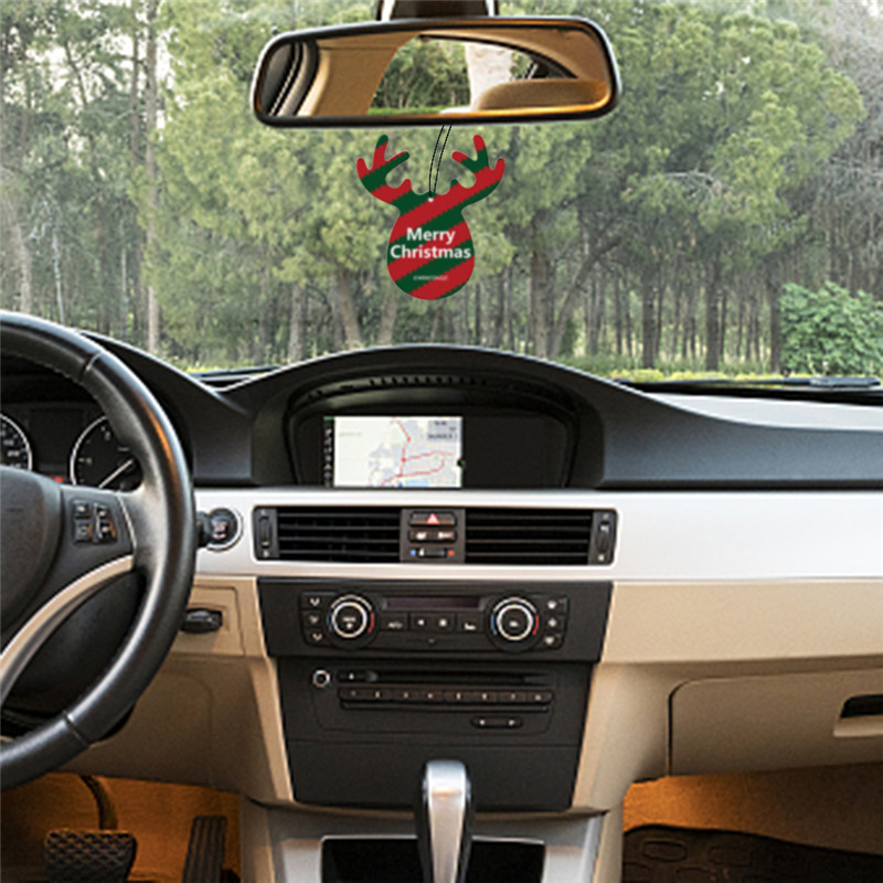 Christmas Antler Car Ornaments Accessories for Girls Hanging Car Decoration Interior Hanging Pendant Perfume Air Freshener in Ornaments from Automobiles Motorcycles