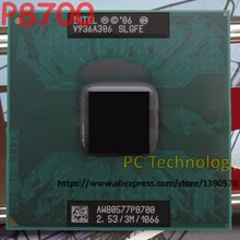 Original Intel Core 2 Duo Mobile Intel P8700 Dual Core 2,53 GHz 3M 1066MHz Socket 478 procesador de CPU 100% de prueba