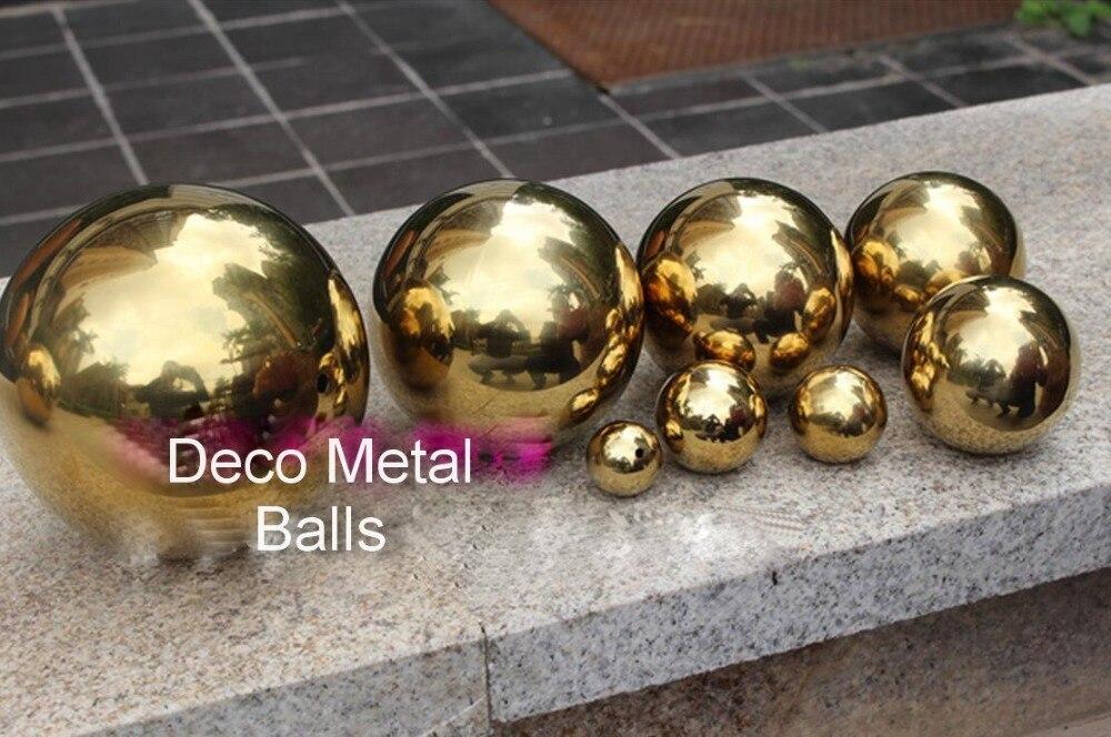 Objetivo Bola Mágica De Acero Inoxidable Hueco Esfera Decorativa De Metal Dorado Bolas De Navidad Decoración Del Hogar Suave Y Suave