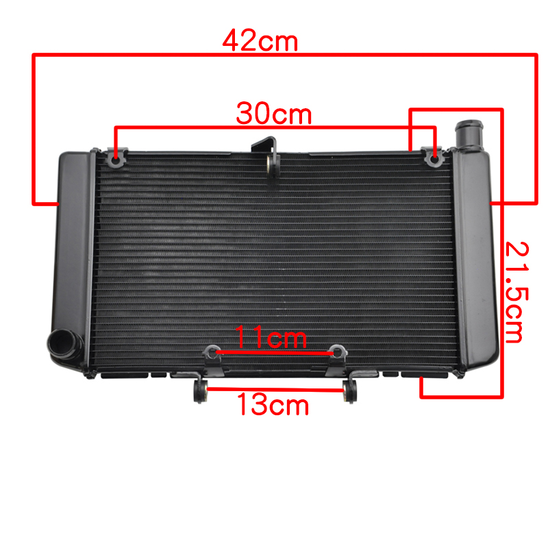 LOPOR Motorcycle Aluminium Radiator Cooler For Honda CB600 CB600F Hornet600 CBF600 2007 2008 2009 2010 2011 2012 2013 new