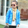 2016 New Style Children Down Coat Girls Long Section Multicolor Warm Down Fur Collar Hooded Jackets Kids Winter Duck Down Parkas