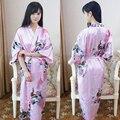 Sinicism Imitation Silk Women Night Robe 2017 Summer Sexy Nightgowns Sleepshirts Vintage Floral Pajama Home Dressing Sleepwear