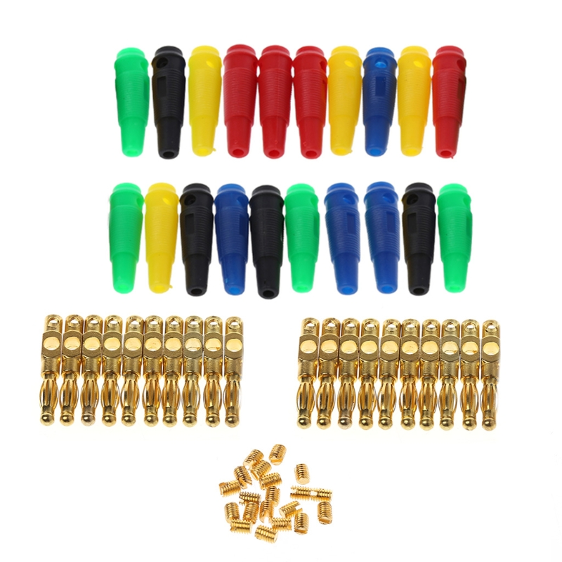 20Pcs/Set Gold Plated 4mm Banana Plug Screw For Speaker Amplifier Binding Post W310