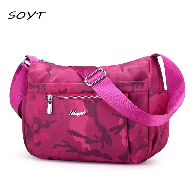 bf149cdd37e0 SOYT Brand Women Crossbody Bag Ladies Nylon Handbag Travel Casual Bag  Leisure Fashion camouflage Bags Bolsos Mujer Bag