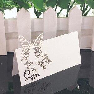 Image 3 - 50 Uds. De tarjetas de encaje blanco para decoración de boda, mesa de decoración, nombre, Mensaje, tarjeta de felicitación, suministros para fiesta de Baby Shower